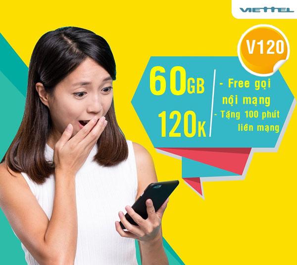 Viettel tung gói cước V120 ưu đãi khủng hơn cả V90