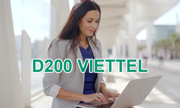 Gói D200 Viettel cho Dcom ưu đãi 20GB mỗi tháng