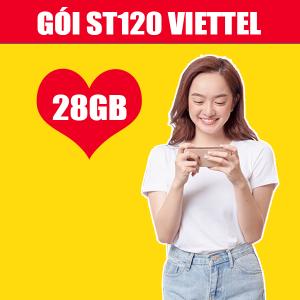 Gói ST120 Viettel ưu đãi 28GB