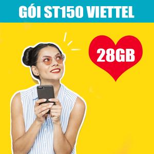 Gói ST150 Viettel khuyến mãi 28GB + Gọi nội mạng Miễn Phí
