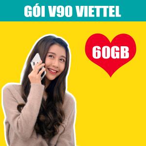 Gói V90 Viettel ưu đãi 60GB + Miễn phí 50 phút ngoại mạng