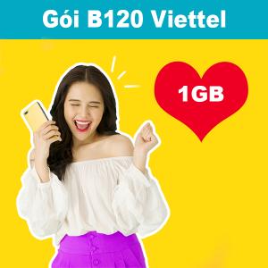 Gói B120 Viettel ưu đãi 1GB + 300 phút gọi nội mạng120K/tháng
