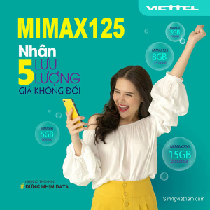 Gói MIMAX125 Viettel ưu đãi 8GB giá chỉ 125k/tháng