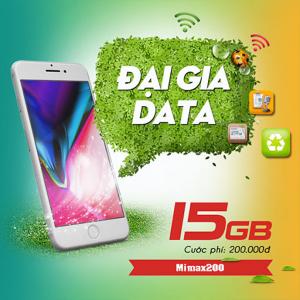 Gói MIMAX200 Viettel ưu đãi 15GB giá chỉ 200k/tháng