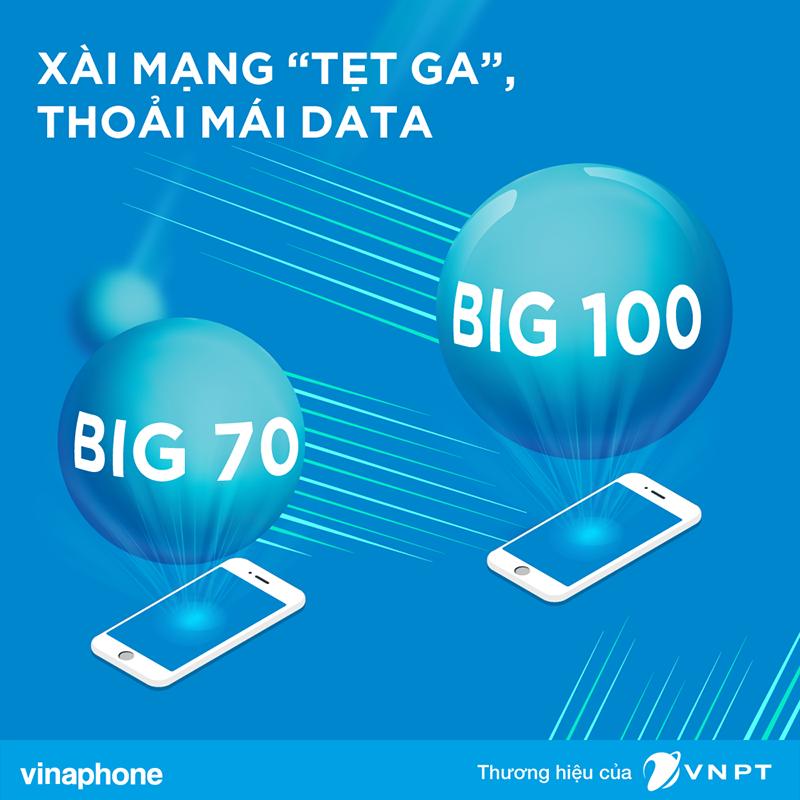 Big70 Vinaphone miễn phí Data trên SCTV, cùng 4,8GB tốc độ cao