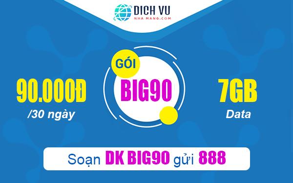 Đăng ký gói Big90 Vinaphone nhận ngay nhiều ưu đãi hấp dẫn
