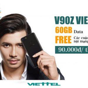 Gói V90Z Viettel ưu đãi 30GB + 20 phút/cuộc nội mạng 90k/tháng