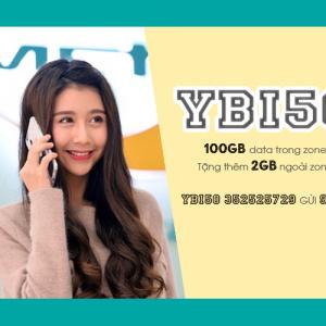 Gói YBI50 Viettel ưu đãi 102GB giá chỉ 50k/tháng tại Yên Bái