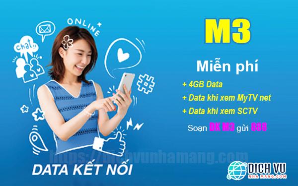 Đăng ký M3 Vinaphone miễn phí Data xem bóng đá trên SCTV