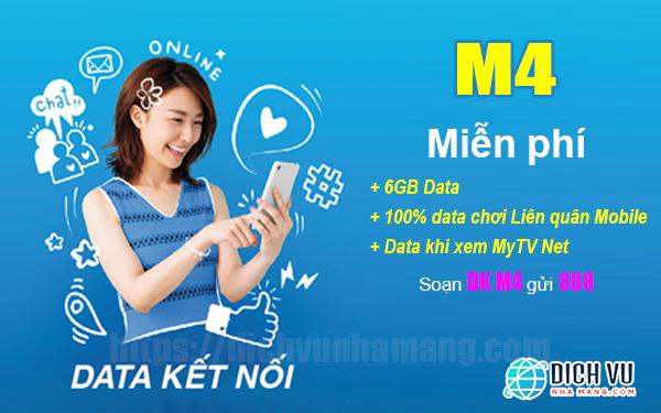 Gói M4 Vinaphone miễn phí Data chơi liên quân cùng 6GB