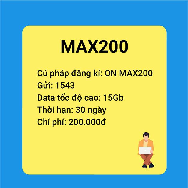 Gói Max200 Vinaphone ưu đãi khủng với 15GB sử dụng trong 30 ngày
