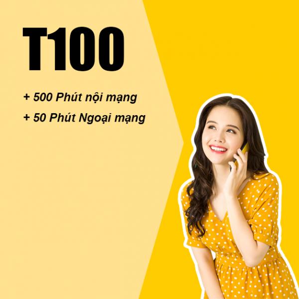 Gói T100 Viettel ưu đãi 500 phút thoại nội mạng giá chỉ 100k/tháng