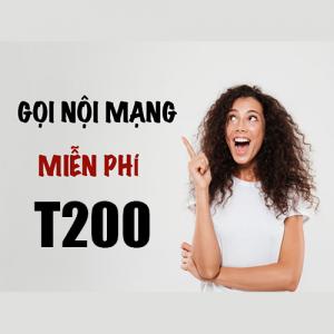 Gói T200 Viettel ưu đãi 8GB + 30 phút nội mạng giá 200k/tháng