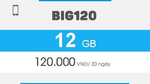 Đăng ký Big120 Vinaphone, ưu đãi 12GB dùng trong 30 ngày