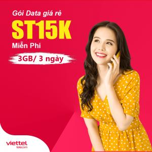 Gói ST15K Viettel miễn phí 3GB 3 Ngày Giá 15k, Internet thả ga